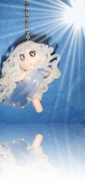 """ciondolo """"la piccola custode dell' ARIA"""" miniatura in fimo handmade"""