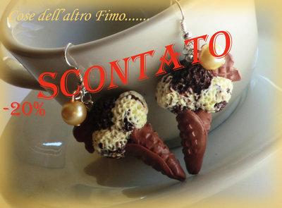 Orecchini Gelato Vaniglia/Fondente