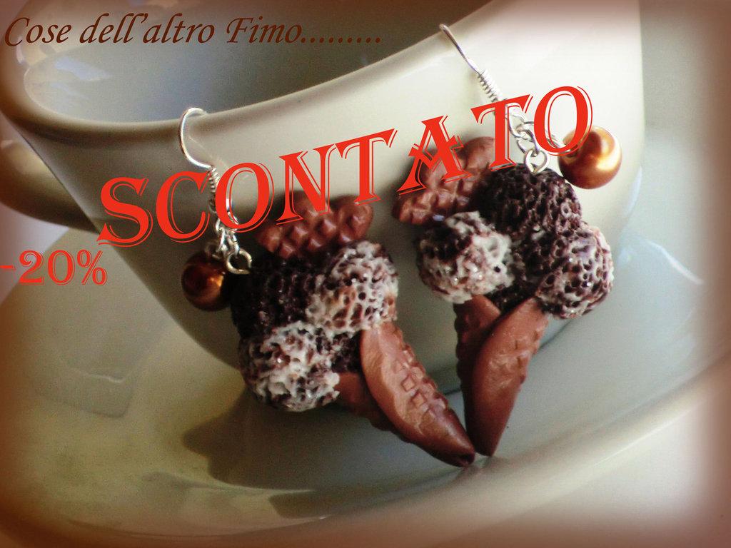 Orecchini Gelato Stracciatella/Cioccolato
