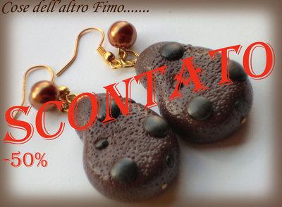 Orecchini Gocciole al cioccolato