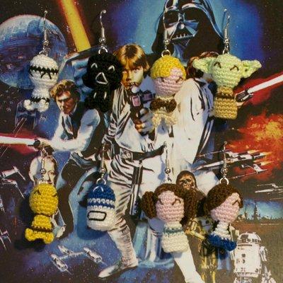 Orecchini Star Wars amigurumi