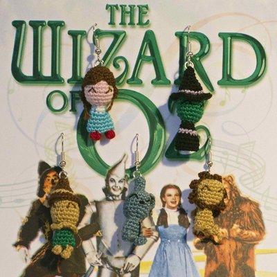 """Orecchini """"Il mago di Oz"""" amigurumi"""