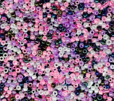 confezione da circa 400 rocaills perline 2x2 mm colori mix scontato
