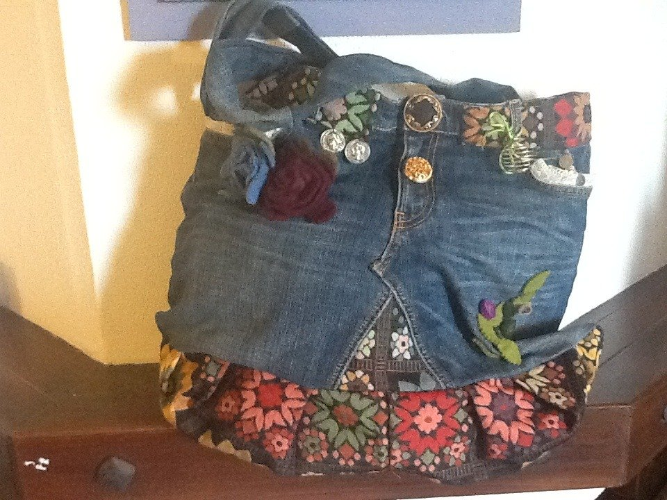 Borsa country-chic in jeans