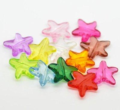 12 stelle in acrilico 21mmx20mm colori  mix scontato