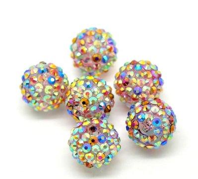 perle in resina+acrilico 18x17mm colore AB scontato