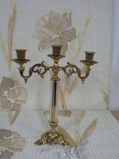 Candeliere Color ottone dorato