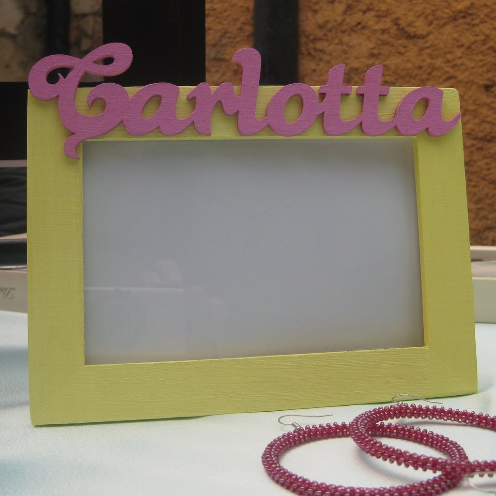 Portafoto di Legno personalizzato Carlotta