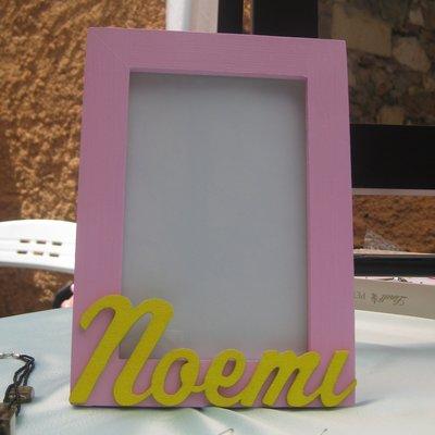 Portafoto di legno personalizzato Noemi