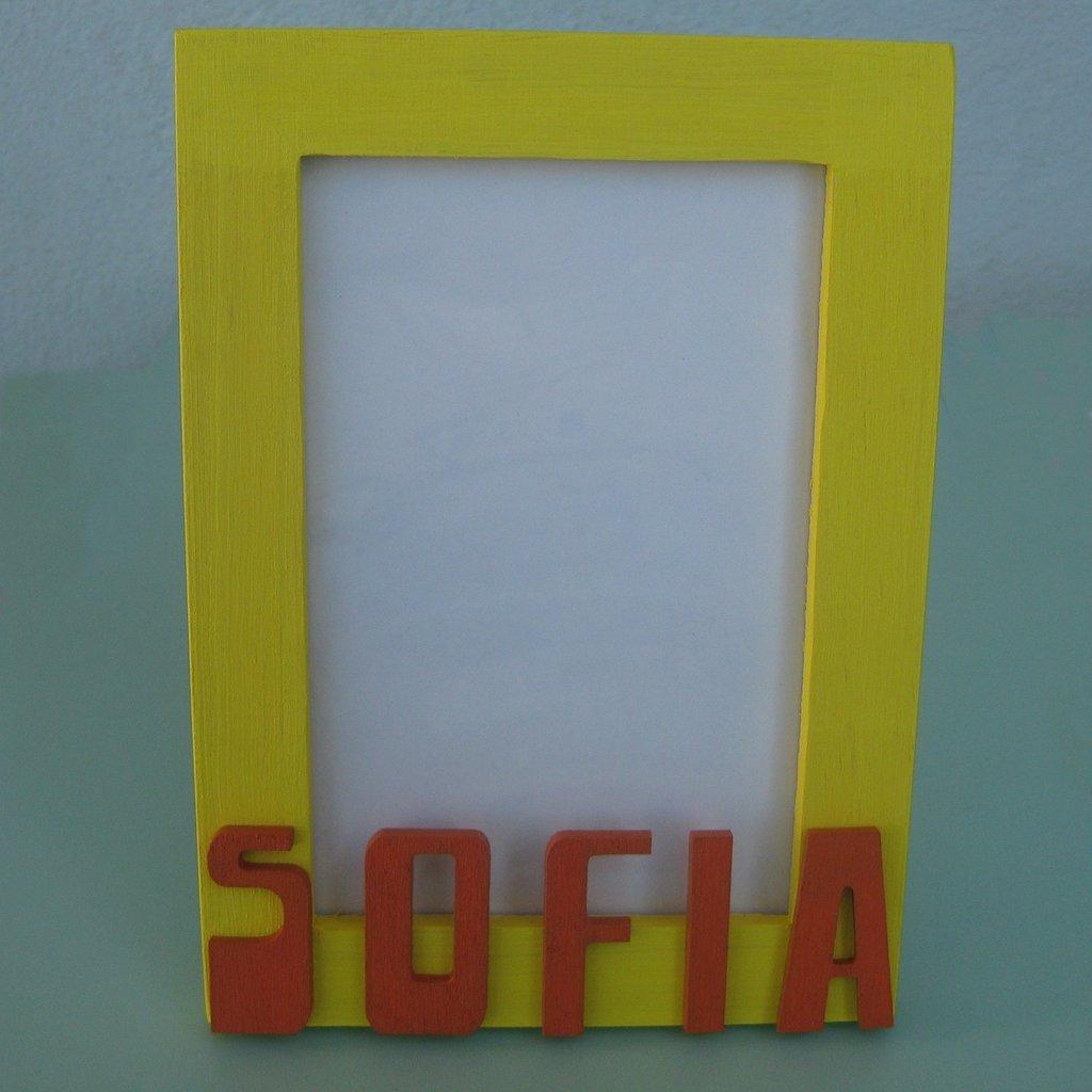 Portafoto di legno personalizzato Sofia.