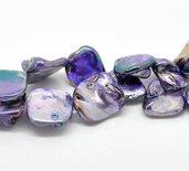perle in pietra madreperla MISURA CIRCA 13X11 MM violetto