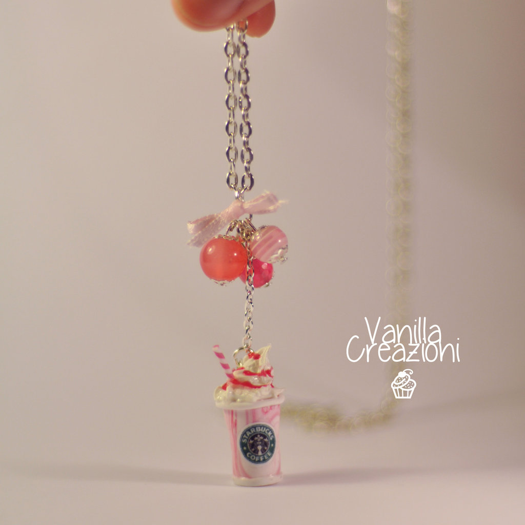 "Collana con charms in Fimo - ""Starbucks Inspired"""