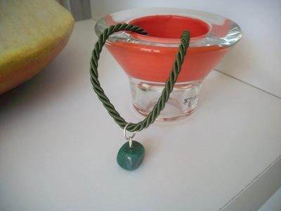 Bracciale con agata verde e argento