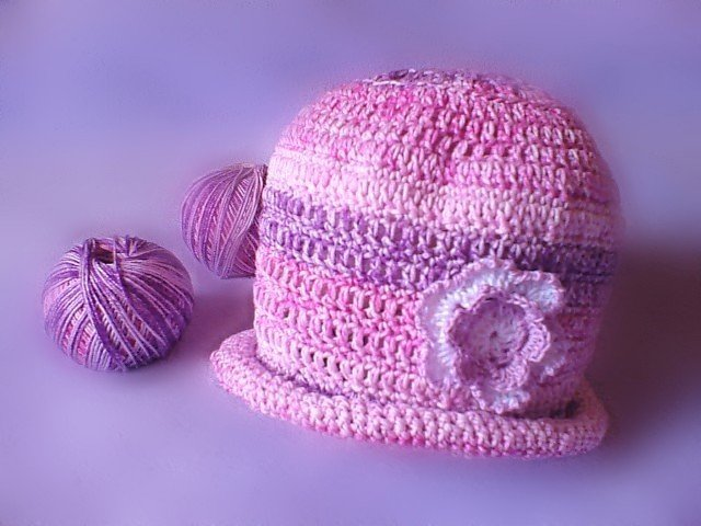 Pink and Purple girl hat