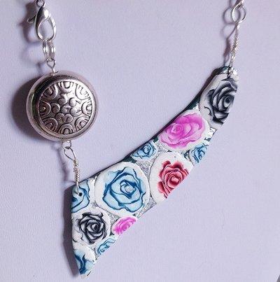 Collana corta Foglia di Rose