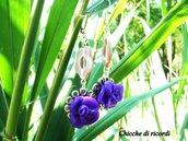 """Orecchini Flower Violet"""