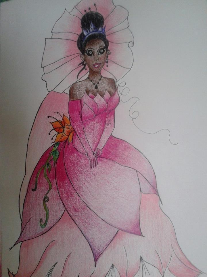 disegno tania principessa