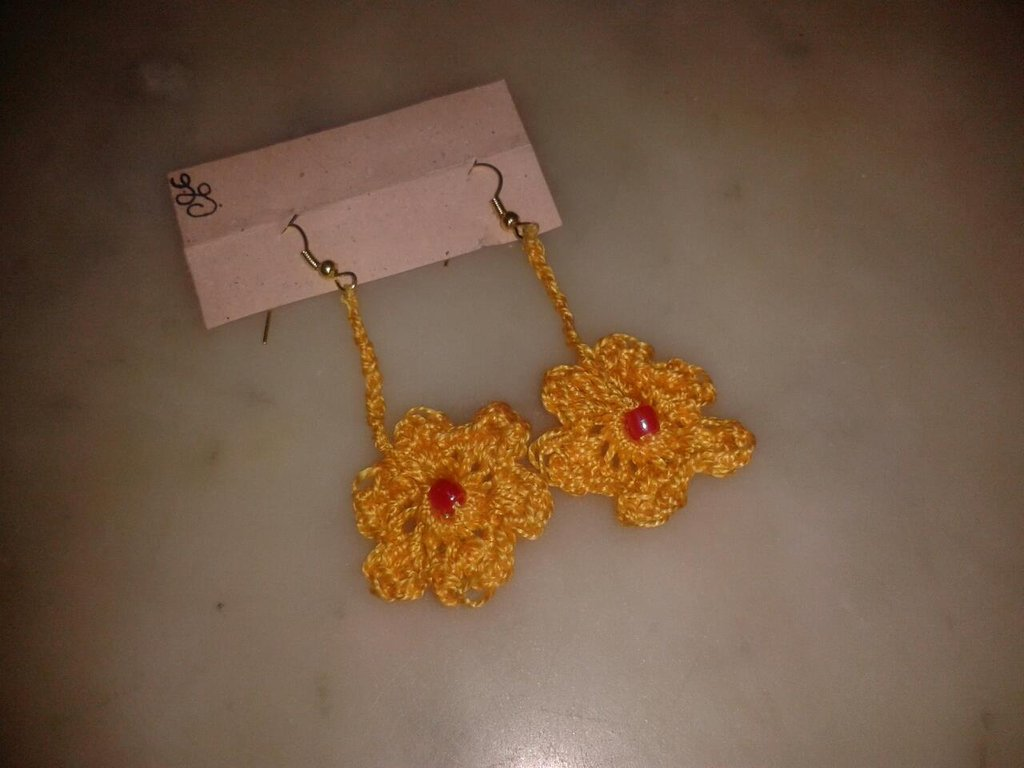 orecchini margherite gialle