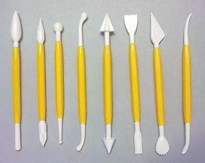 14 attrezzi per modellare pasta sintetica e pasta di zucchero