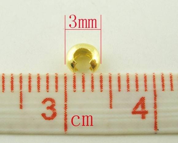 20 CopriSchiaccini in metallo Dorato 3mm dia  scontato