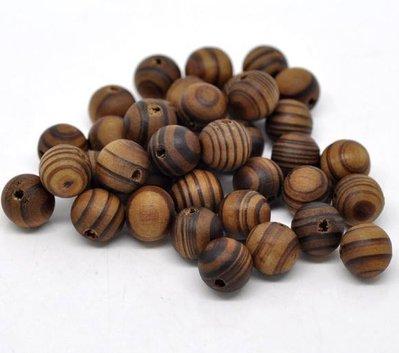 10 perle Distanziatori  in Legno Zebrato Caffè 11mm Dia scontato