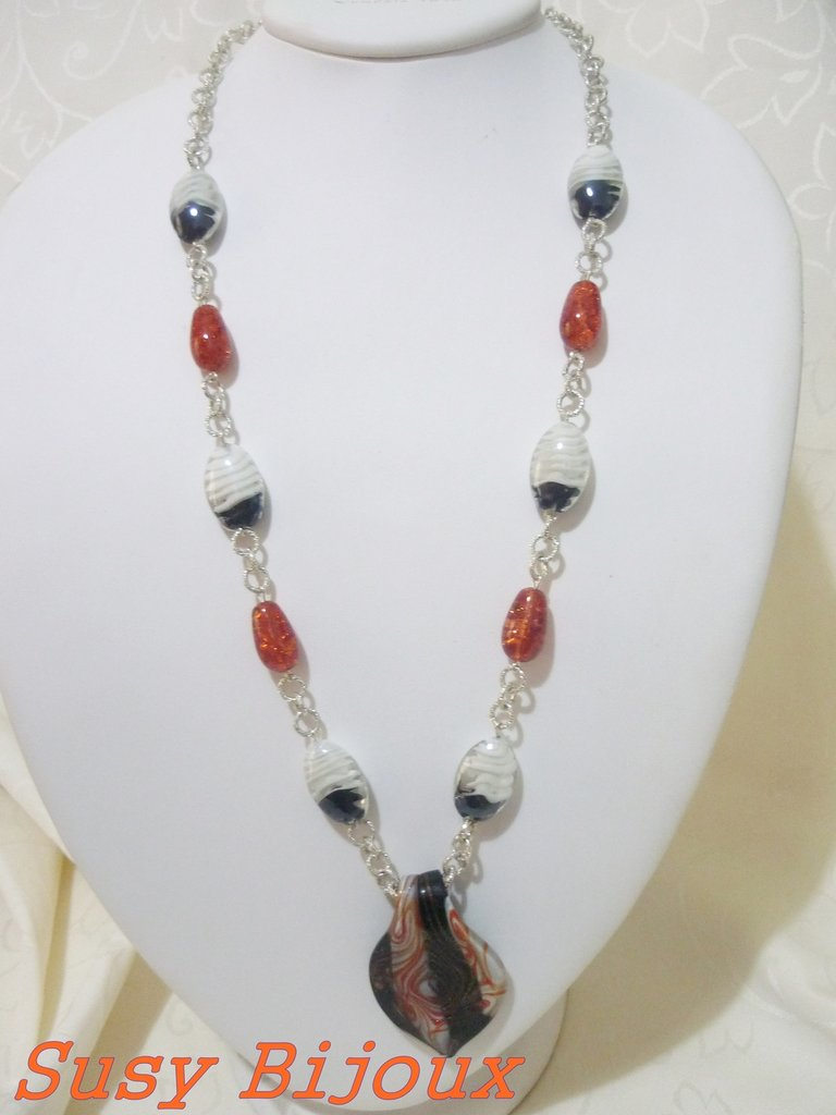 Collana lunga murina veneziana