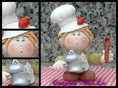 Cuoco pasticcione o cuoca in pasta di mais