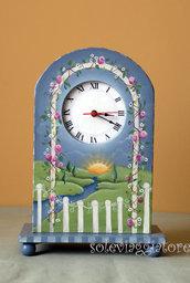 orologio giardino con vano portaoggetti