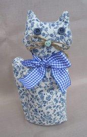 Gatto di stoffa - blu