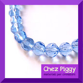 10 x perle di vetro sfaccettate - BLU
