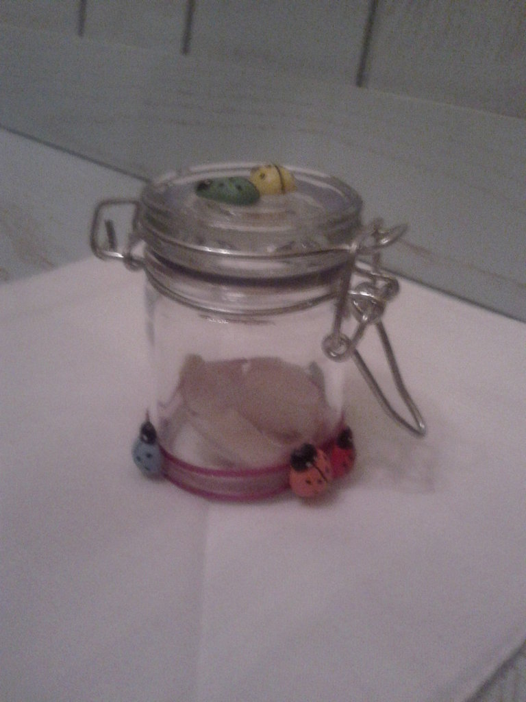 Vasetto piccolo in vetro decorato