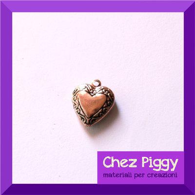 1 x Ciondolo apribile a forma di cuore - rame