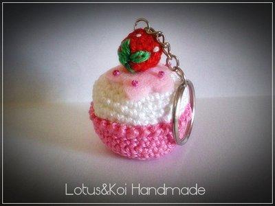 Cupcake Fior di Fragola Amigurumi