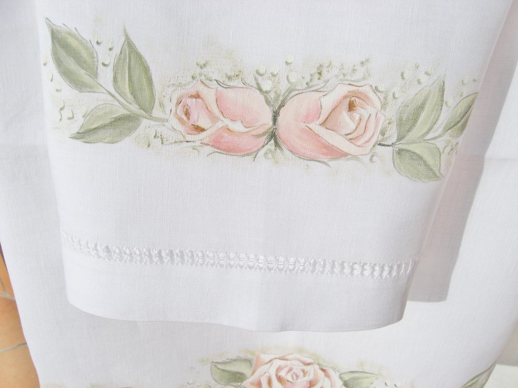 Asciugamani dipinti - Rose