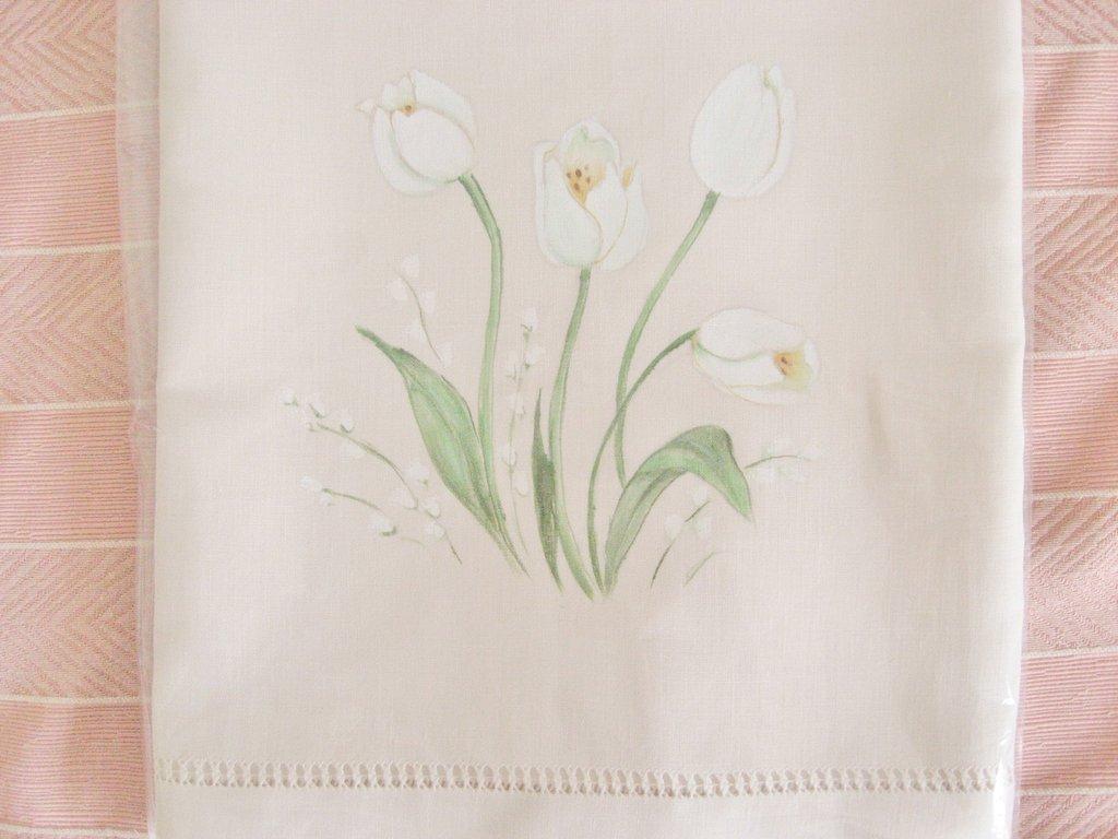 Asciugamani dipinti - Tulipani