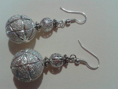 orecchini pendenti argentati