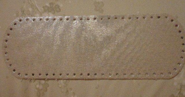 Fondo per borse tessuto panna e glitter silver