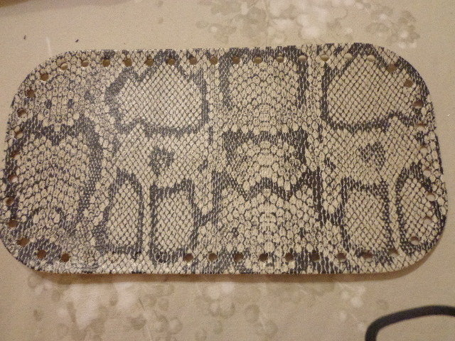 Fondi per borse ecopelle pitonato beige e nero 28x15