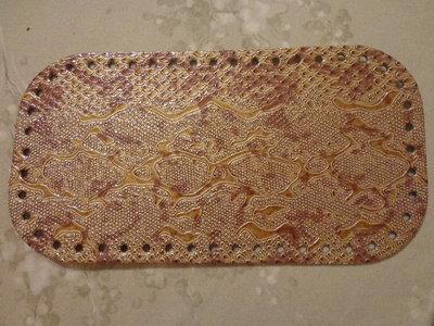 Fondi per borse ecopelle pitonata marrone chiaro 28x15