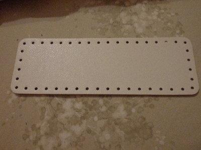 Fondi per borse ecopelle bianca 29x10