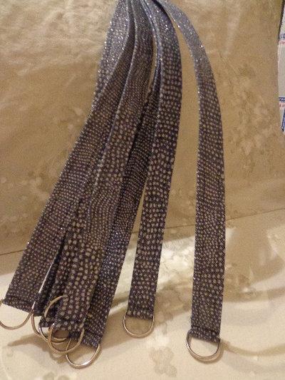 Manici per borse tessuto jeans glitter