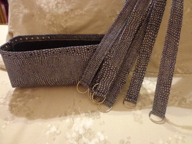 Kit per borse in fettuccia tessuto jeans glitter