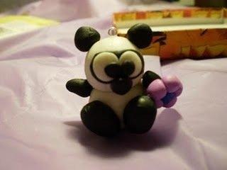 Panda in Fimo