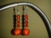 Orecchini pendenti arancio