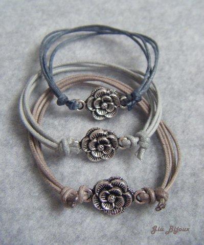 Bracciale roselline metallo