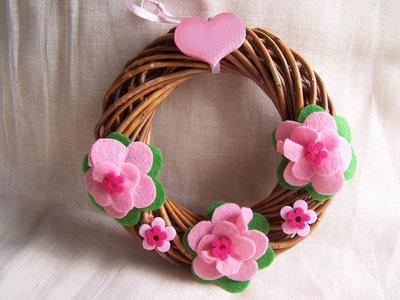 Coroncina fiori rosa