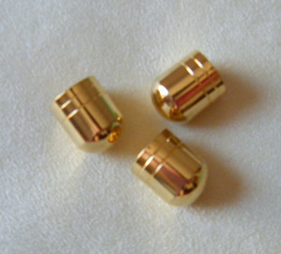 1 x coppette ,copriperla ,terminali colore oro  18 x 14 mm