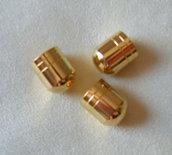 coppette ,copriperla ,terminali colore oro  18 x 14 mm