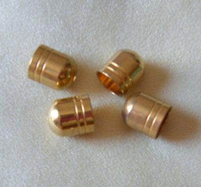 1 x coppette ,copriperla ,terminali colore oro  13 x 15 mm