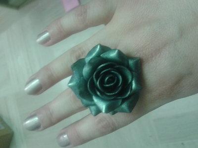 anello fimo rosa verde